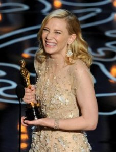 Cate Blanchett Oscars opal earrings