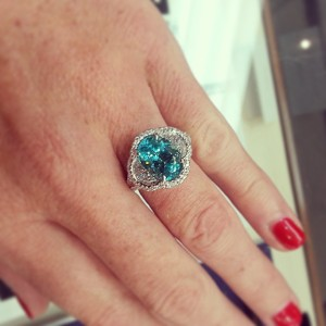 Paraiba Tourmaline ring - Underwood's Jewelers