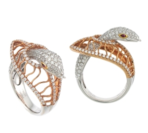 Diamond Snake Ring by Supreme Jewelry