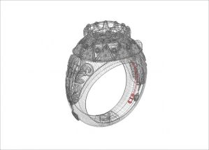 Vamp Flora Diamond Ring Design Showing Blood  Showing Secret Cavity
