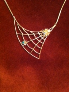 Spider Web Necklace by Von Bargens