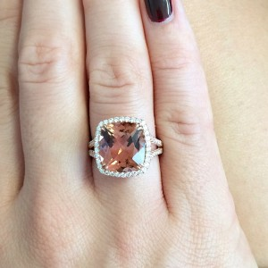 Cushion Cut Tourmaline from Omi Privé