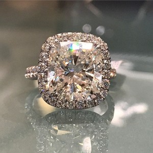 A gorgeous 7 carat, cushion cut from Alson Jewelers.