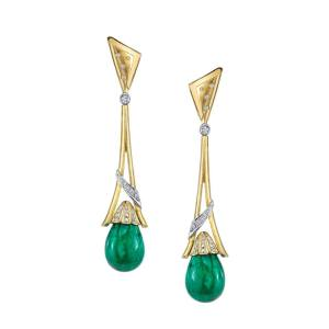 Emerald earrings from AG Gems