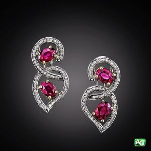 Ruby earrings by AG Gems