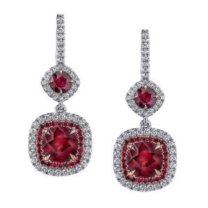 Ruby earrings by Omi Privé