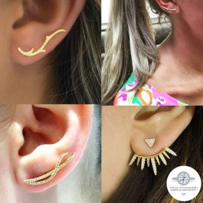 Ear climber designs by AGS members. Photo courtesy of the AGS Young Titleholders.
