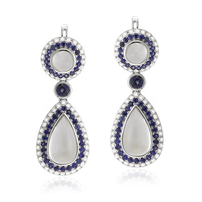 Moonstone yael-earrings