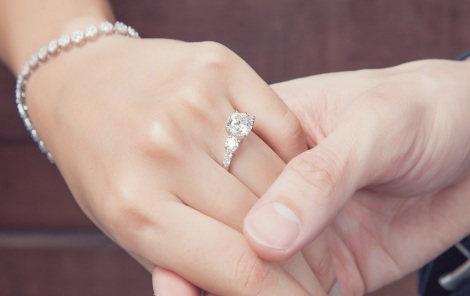 wedding engagement with diamond ring