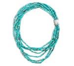 Arizona turquoise bead and sterling silver necklace by John Hardy.