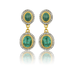 Rose cut emerald slices and champagne diamonds, by Lika Behar Collection.