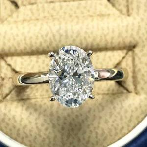 GJS USA Oval Engagement Ring
