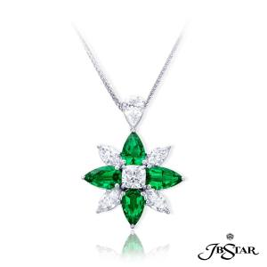 Pear Shaped emeralds and Marquite diamonds
